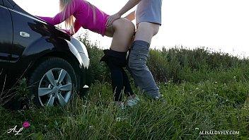 Horny Taxi Driver Tough Fucked Babe Outdoors