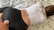 Sexy niece in leggings is fucked by her uncle 10 min