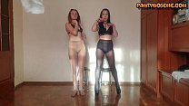 Andrea and Lisa Takes Off Dress and Show Off In Pantyhose