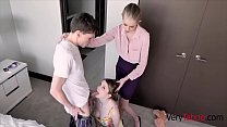 Skinny Mom Punishes Busty Daughter & her To Fuck Son- Bunny Colby