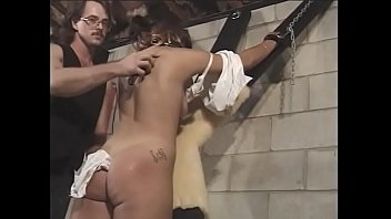 Sexy sub gets strapped and blindfolded while being pleasured