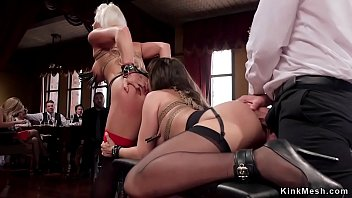 Anal and oral sex at bdsm party