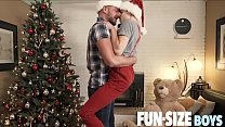 FunSizeBoys - Tiny elf twink bred raw by muscle Santa's monster cock