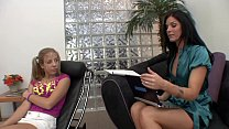 Hot Brunette MILF Therapist helps the tight teen gets an orgasm in return 28 min