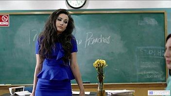 Jerk Teens Welcome The New Teacher - Angela White, Aidra Fox, Georgia Jones, Emily Willis