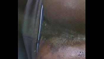 Black ass spread dirty feet in public  asshole wink