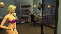 Blonde Mom Catching Up Her Son Masturbating In Front Of The Computer