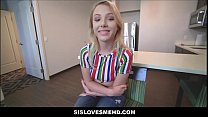 Big Ass Blonde Teen Step Sister Helps Family Brother Out With His Cheating Girlfriend POV