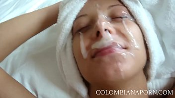 Facial Cumshot Colombian girls Amateur compilation ... full videos @