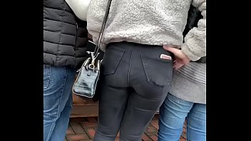 Tight jeans at the market