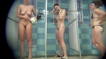 Spycam in real female public shower rooms 15 min