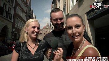 Deutsches Paar macht Pornocasting in Münster zu Outdoor Sex