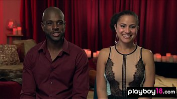 Curious ebony couple join to a private swinger club 6 min