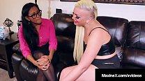 Step Mom Maxine X Instructs Daughter N Law Skylar Harris !