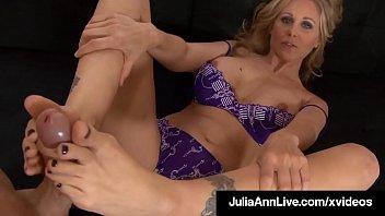 Mouth Fucking Foot Fox Julia Ann Spits Jizz On Feet After BJ 8 min