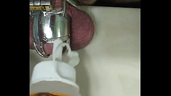 Gluing my penis to my chastity cage