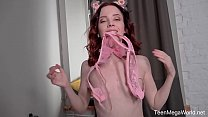 Beauty-Angels.com - Lottie Magne - Petite cutie cums all over fat dildo