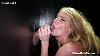 Blonde Milf sucks off strangers