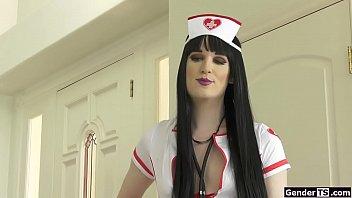 Ts Erica Cherry analed in nurse uniform