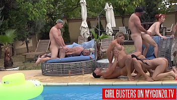 Outdoor Swimming Pool Orgy With Kitty Core, Lana Vegas, Rosalina Love, Jezzi Cat, Mugur, And Many More Other Horny Pornstars