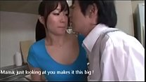 JAPANESE MOM (Yu Kawakami) SUCKING HER SONS THROBING COCK (SUBS)