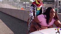 Gibby The Clown Fucks Juicy Tee On Atlanta's Most Popular Highway