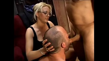Bi dude and sexy babe Sindy Lange share sucking one huge dick before getting banged 31 min