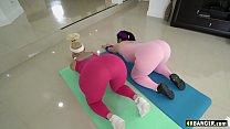 Big Booty Yoga Sluts Take Instructor's BWC - Virgo Peridot, Alexis Andrews
