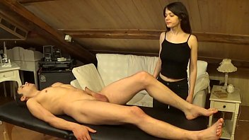 Accidental facial on Melody after a sexy double massage and hard fuck