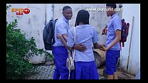 Outdoor Threesome with horny Secondary school girl behind school hostel (trailer)