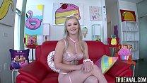 TRUE ANAL Drilling cute blonde Kay Carter's tight ass