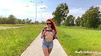 Babe Public Blowjob Big Dick and Cum in Mouth Outdoor after Walk 5 min
