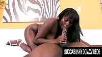 Busty Ebony Lickable Stylez Gives Her Man a Sensational Blowjob