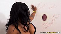 BBW Ebony Ms London Gets Fucked By White Gloryhole Dicks 8 min