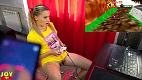 Letsplay Retro Game With Remote Vibrator in My Pussy - OrgasMario By Letty Black