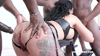 Obedient piss slut Morgan XX takes 7 DAP positions IV507