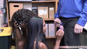 Two sexy ebony chicks busted at the shopping mall