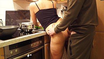 milf preparing dinner quick kitchen fuck - projectfundiary