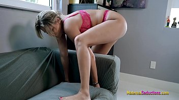 Nikki Brooks in Hot Step Mom is Stuck in the Office Couch 11 min