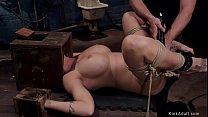 Huge tits MILF in threesome training