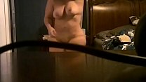 Wife undressing on hidden camera