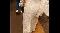 candid teen with transparent dress vpl vtl