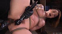 Big ass babe toyed on hogtie