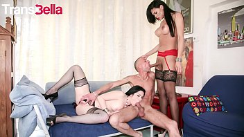 TRANS BELLA - #Ingrid Moreira - Lucky Daddy Fucks A Pussy And A Tranny