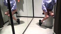 Teen public masturbation in Fitting Room