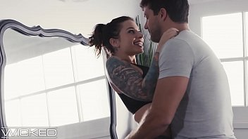Busty, Tattooed Babe Cheats On Husband With Coworker - WickedPictures