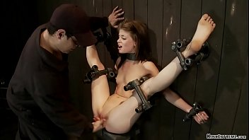 Slave with legs in the air fingered