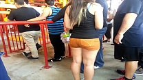 Thick ass in orange