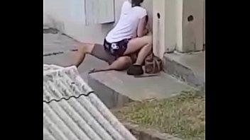 Novinha safada dando na rua