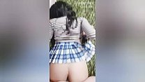 Schoolgirl with a rich ass is fucked by a guy while he s..